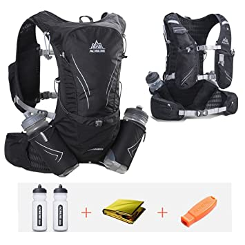 601e6feb82 AONIJIE Hydration Pack Backpack 15L 14 Pockets Marathoner Running Race  Hydration Vest Running Hiking Backpack with