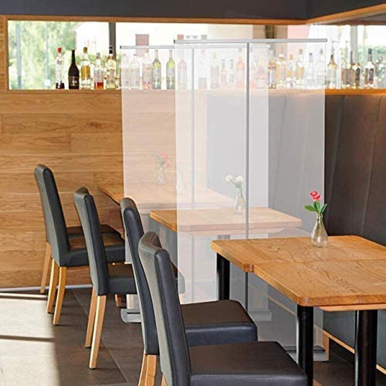 magasins Banni/ère enroulable sur pied avec /écran transparent et barri/ère disolement pour bureau cliniques salons restaurants