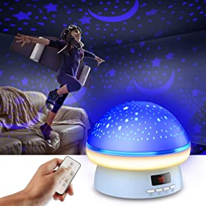 Star Projector Night Lights for Kids with Timer,LED Night Light,Birthday Gifts Star Light Projector for Bedroom and Room Decor for Teen Girls,7 Modes Light Night Light Projector for Baby Kids Adult