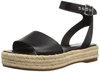 a60d70e438b8 Vince Camuto Women s Kathalia Espadrille Wedge Sandal Black 6 Medium US