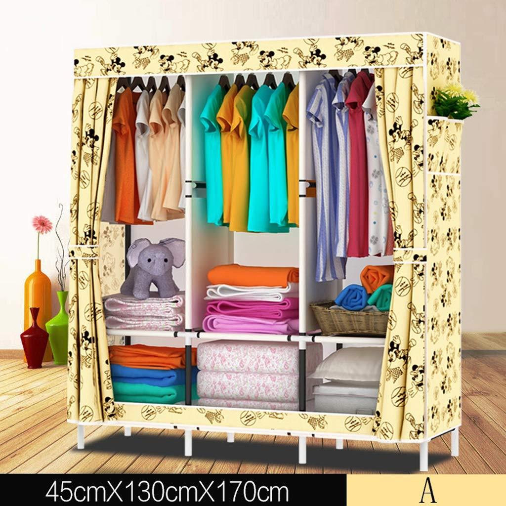 Clothes Closet Wardrobe Wardrobe Portable Clothes Closet Cupboard Combination Bedroom Furniture Storage 130 * 45 * 170 cm (Color : B)