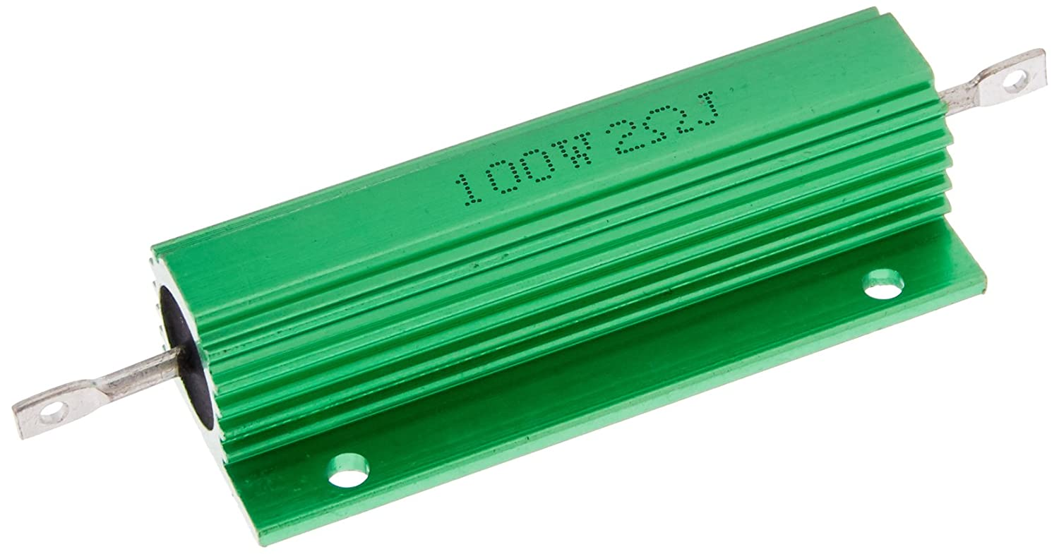 Uxcell Chassis Mounted Aluminum Case Wirewound Resistor 5/% 2 Ohm 100W