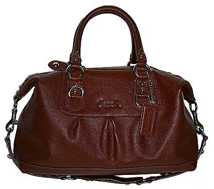 Amazon.com  Authentic Coach Ashley Leather Convertible Satchel Bag 15445  Mahogany Brown  Clothing 3b32b8f23190b
