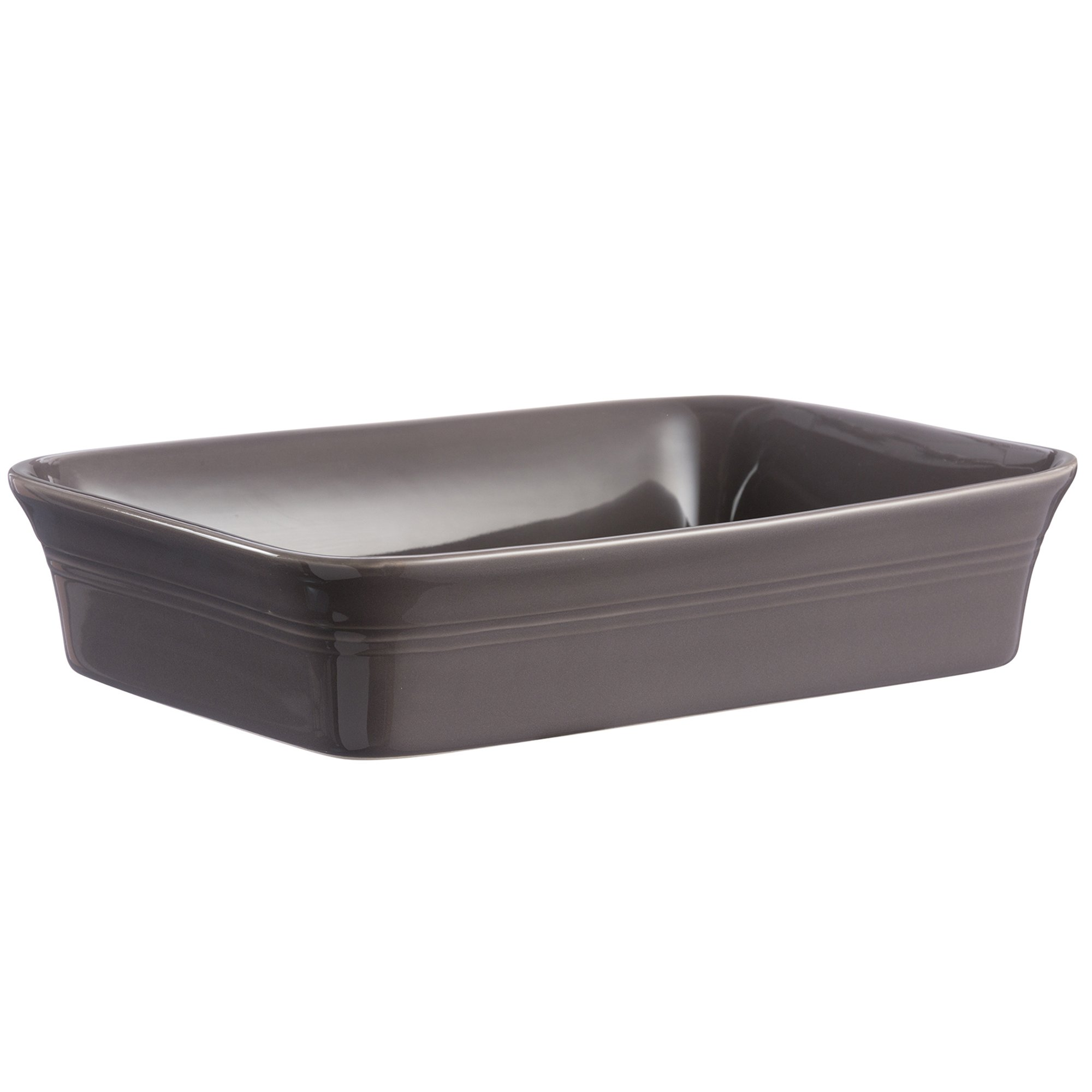 Mason Cash Classic Kitchen Rectangular Baker, Durable Stoneware Is Dishwasher, Oven, Microwave and Freezer Safe, Versatile Size Holds 100-Fluid Ounces,12-1/4'' x 10'' x 2-3/4'', Dark Gray