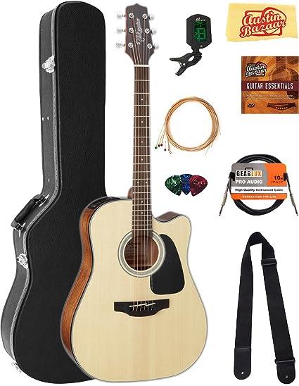 Takamine - Guitarra acústica GD30 con estuche, cable, afinador, correa, cuerdas,
