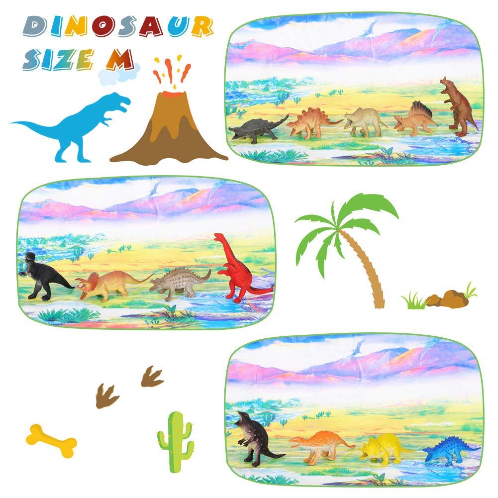 Fdit Juguetes de Dinosaurio Jur/ásico Modelo de Juguete de Tyrannosaurus Rex//Therizinosaurus//Velociraptor//Juego de Dinosaurios Figuras de Dinosaurios Regalo de Cumplea/ños Navidad para Ni/ños