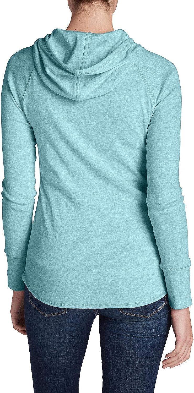 Eddie Bauer Damen Casual Favorite Kapuzenshirt Uni Mehrfarbig aus Baumwolle