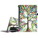 """Fintie Lenovo Yoga Tab 3 10 Housse étui - Folio PU Cuir Protection Coque Haute Qualité Smart Case Cover für Lenovo Yoga Tab 3 Tablette tactile 10"""", Love Tree"""