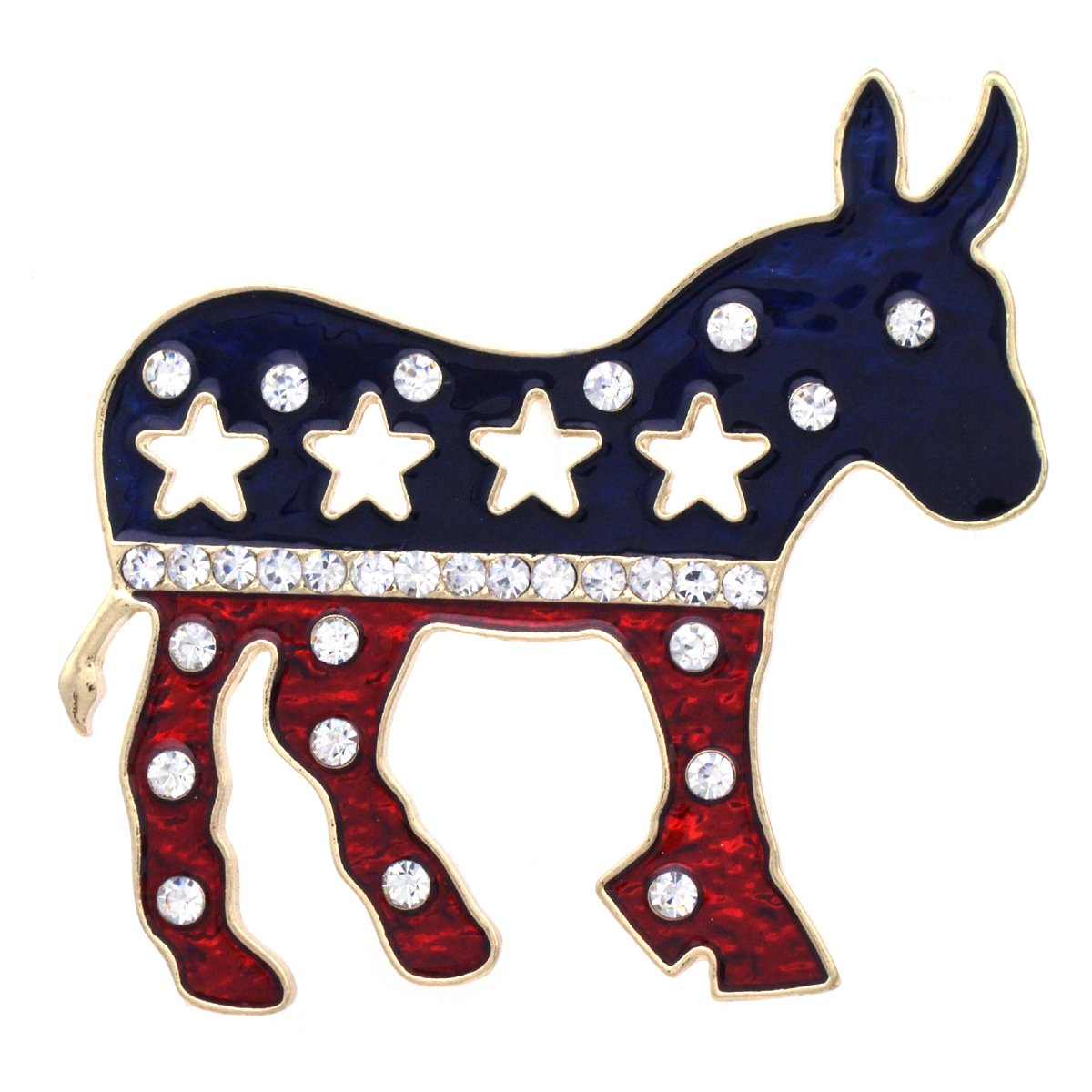 SoulBreezeCollection Democratic Party Symbol Donkey Brooch Pin