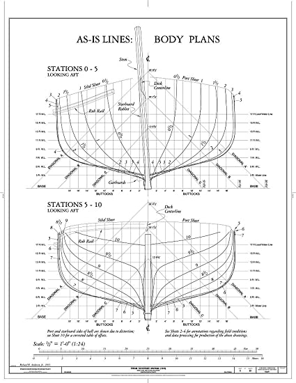 Amazon Com Blueprint Diagram As Is Lines Body Plans Stations 0 5