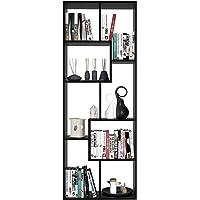 Homfa Bibliothèque en Bois Étagère de Rangement Design Salon Bureau 60x24x160cm