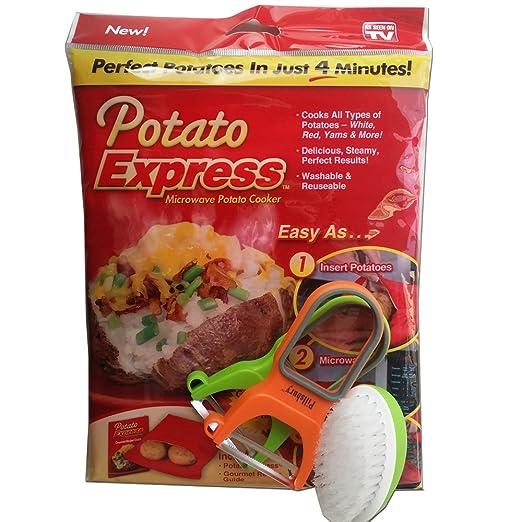 Patata Express 4 piezas. Microondas bolsa de patatas con ...