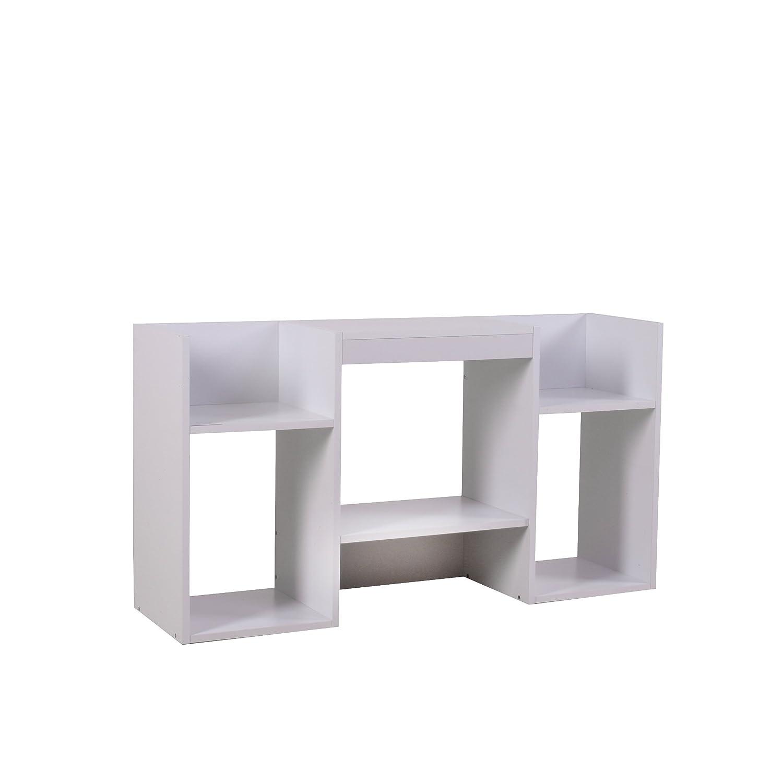 Mendler TV-Rack Fernsehtisch Standregal aus Holz 109x59x30 cm  weiß
