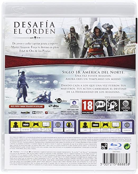 Assassin's Creed IV Black Flag + Assassin's Creed Rogue PS3 - Play Station 3