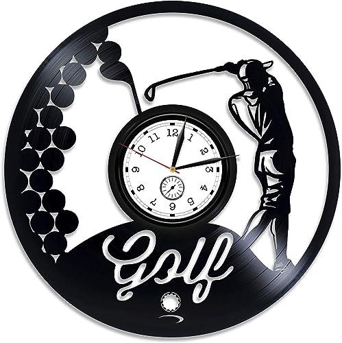 Kovides Golf Vinyl Clock Golf Wall Clock Large Golf Vinyl Wall Clock Sport Gift