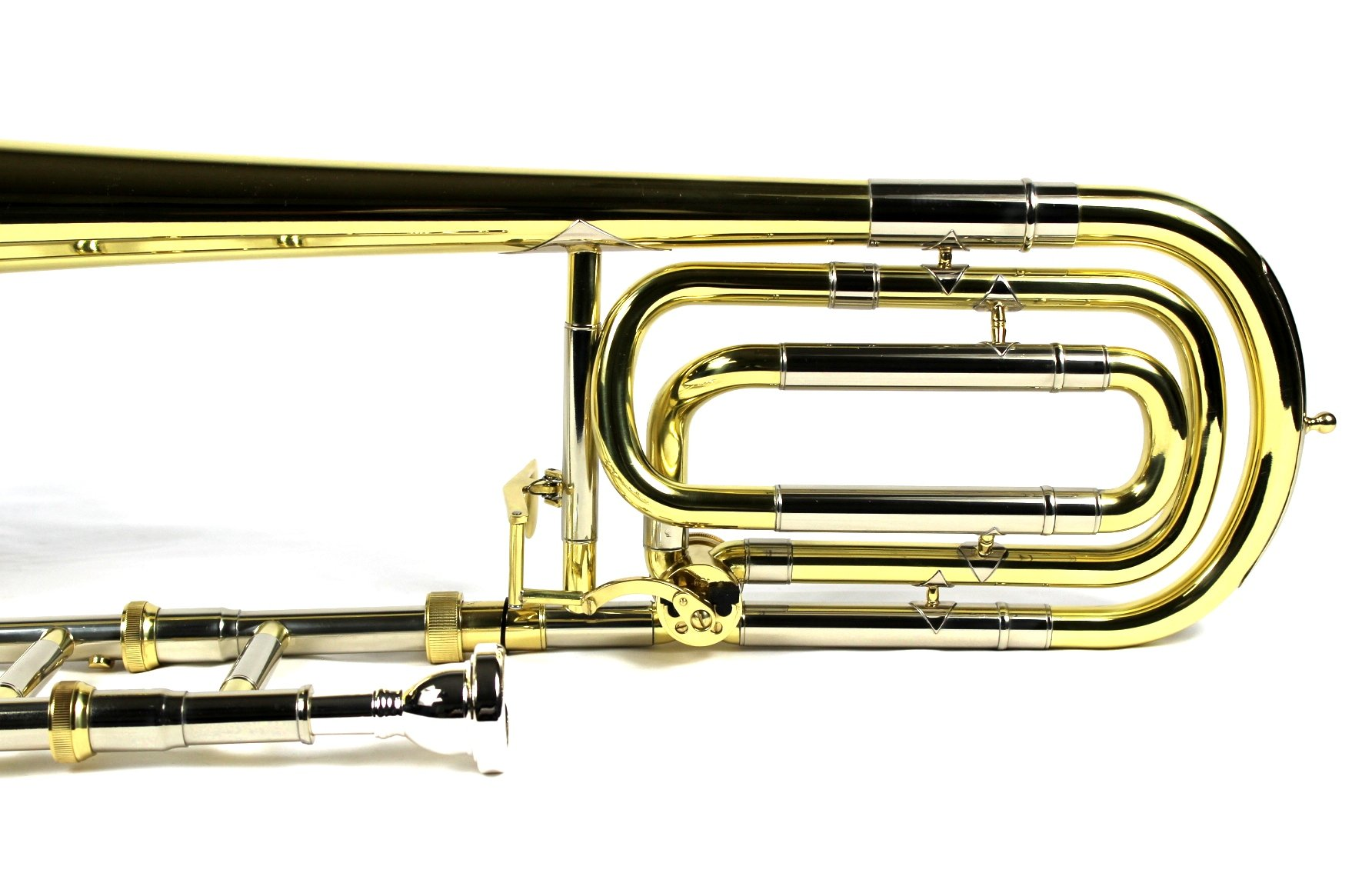 Brand New Bb/F Bass Trombone w/ Case and Mouthpiece- Gold Lacquer Finish by Moz (Image #7)