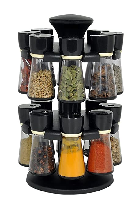Buy Olypex Plastic 16 Jar Revolving Spice Rack Masala Box Condiment