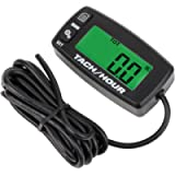Searon Backlit Digital Resettable Inductive Tacho Hour Meter Tachometer for Motorcycle Marine Boat ATV Snowmobile…