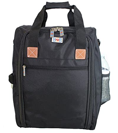 Personal Item for the airlines of American, Frontier, Spirit, black 2-Day-Shipping