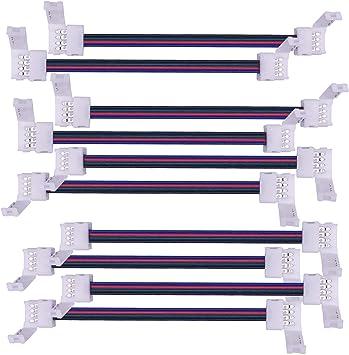 10 Packs Kabenjee 2Pin LED Solderless Strip to Strip Connector for SMD5050 10mm single color,Led Connector Strip to Strip Jumper