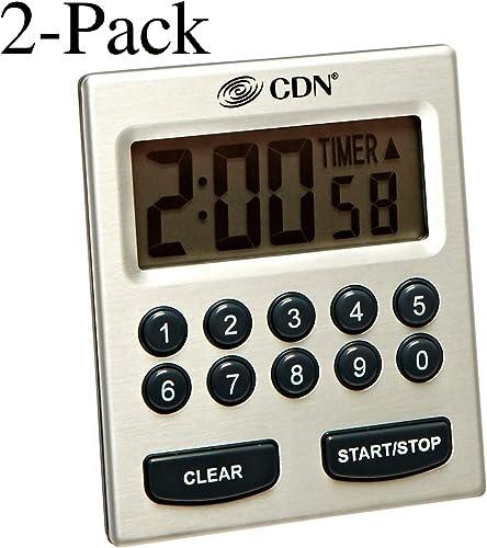 CDN TM30 Direct Entry 2-Alarm Timer-Alarm Sounds or Vibrates – 2 count