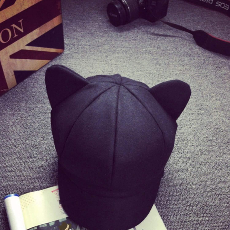 Cat Ear Octagonal Women Solid Plain Woolen Felt Newsboy Cap Autumn Winter Artist Painter Beret Winter Hat