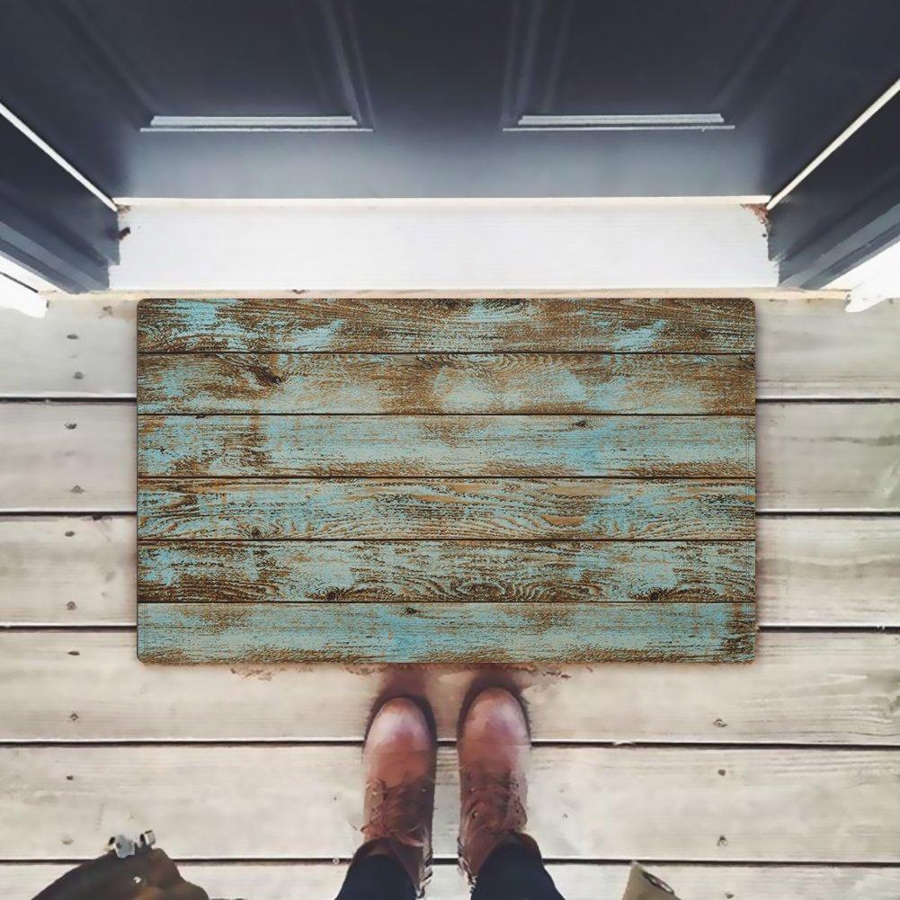 Amazon.com: ZBLX Alfombrilla rústica para puerta de madera ...