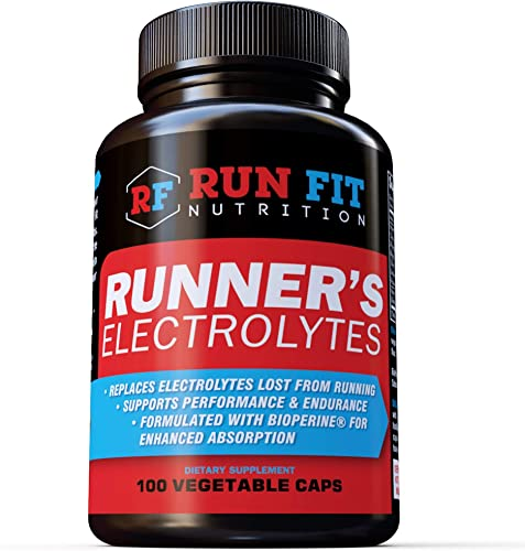 Runner s Electrolytes Stops Muscle Cramps 100 Pills Boosts Endurance, Avoid Muscle Burnout and Cramps Made in The USA