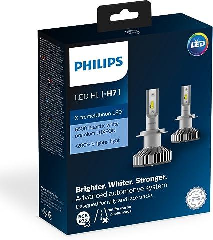 Philips 12985BWX2 Led para Coche H7, 2 Bombillas: Amazon.es: Coche y moto