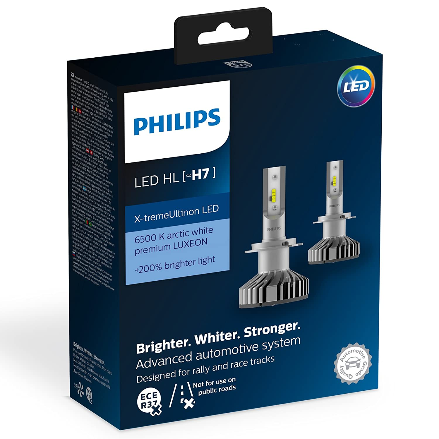Philips 12985BWX2 Led para Coche H7, 2 Bombillas: Amazon.es: Coche y moto