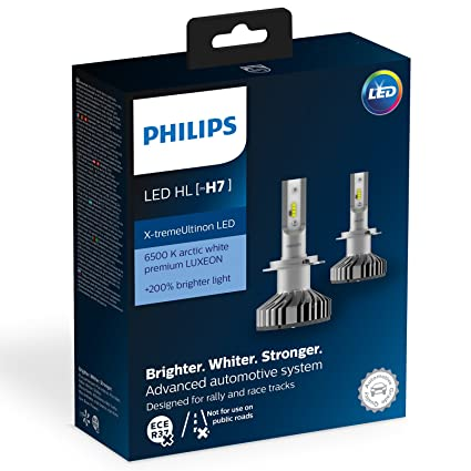 Philips 12985BWX2 Led para Coche H7, 2 Bombillas