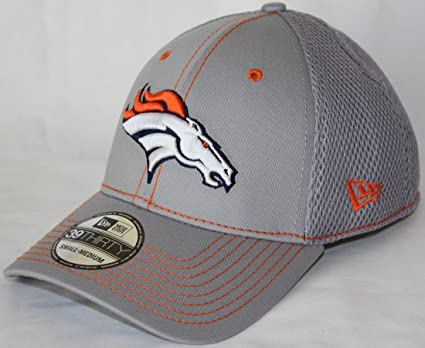 50cb2c88 Image Unavailable. Image not available for. Color: New Era Denver Broncos  NFL 39THIRTY Gray Neo Flex Fit Hat