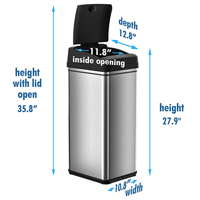iTouchless 13 Gallon Touchless Trash Can