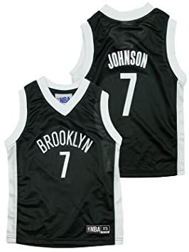 Brooklyn Nets Nba Little Boys Joe Johnson # 7 Dazzle negro Jersey, Large / 10/12, Negro: Amazon.es: Deportes y aire libre