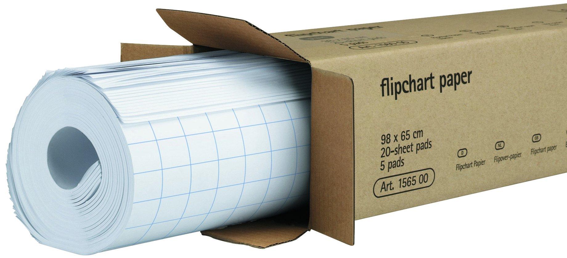 Legamaster Plain Flipchart Gridded - 5 Pack by Legamaster