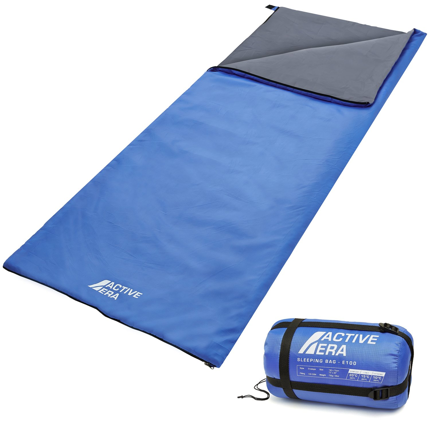 Active Era Ultra Lightweight Sleeping Bag – Perfect for Warm Weather, Sleepovers, Fishing, Outdoor Camping and Hiking in The Summer Months