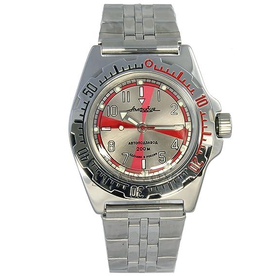 Vostok 110651 de anfibios/2416b buceo Militar ruso relojes mecánico automático para hombre color gris: Amazon.es: Relojes