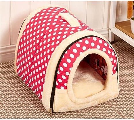 Iglú/sofá 2 en 1 para mascotas, diseño acolchado muy cálido para perros y