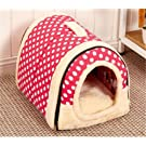 2 In 1 Pet House and Sofa, Very Warm Insulated Padded Cosy Cave Bed house Dog Cat Kitten