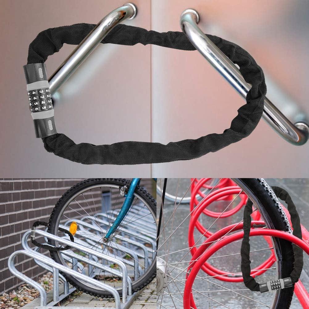 Lucchetto Bici Gray Black Serratura Di Sicurezza Della Bici Heavy Duty 4 Cifre Combination Code Lock Serratura Antifurto In Acciaio Per Cancelli Per Biciclette Biciclette Recinzioni Porte In Vetro