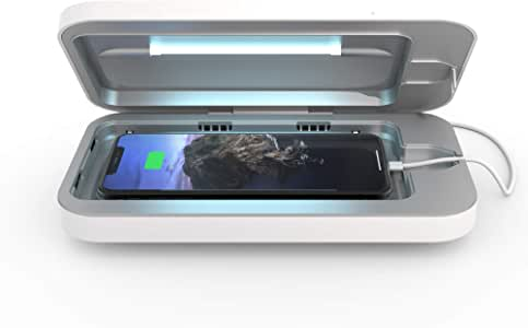 PhoneSoap 3 UV Smartphone Sanitizer & Universal Charger | Patented & Clinically Proven UV Light Disinfector | (White)