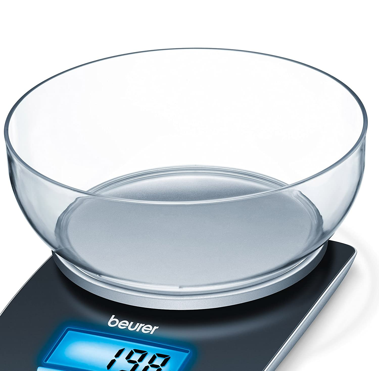 Beurer KS25 Kitchen Scales with Bowl and Illuminated Display: Amazon ...