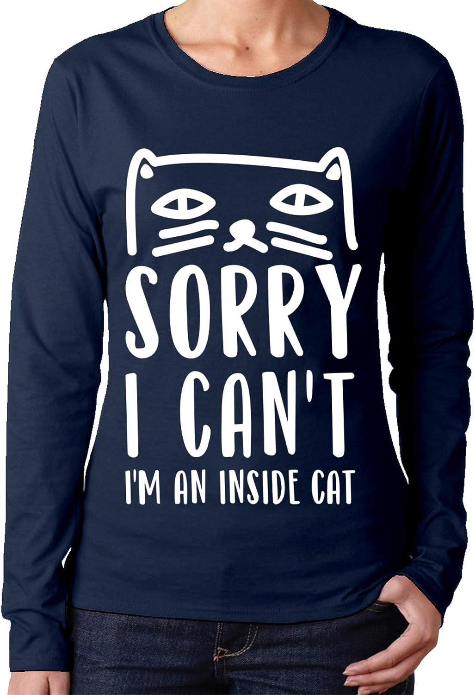 Sorry I Cant Im a Inside Cat - Camisa de manga larga de ...