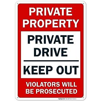 Amazon.com: Propiedad Privada Mantener fuera violators será ...