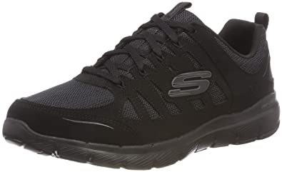 affb05c0528 Skechers Women's Flex Appeal 3.0-Billow Trainers, Black (Taupe  Mesh/Duraleather/