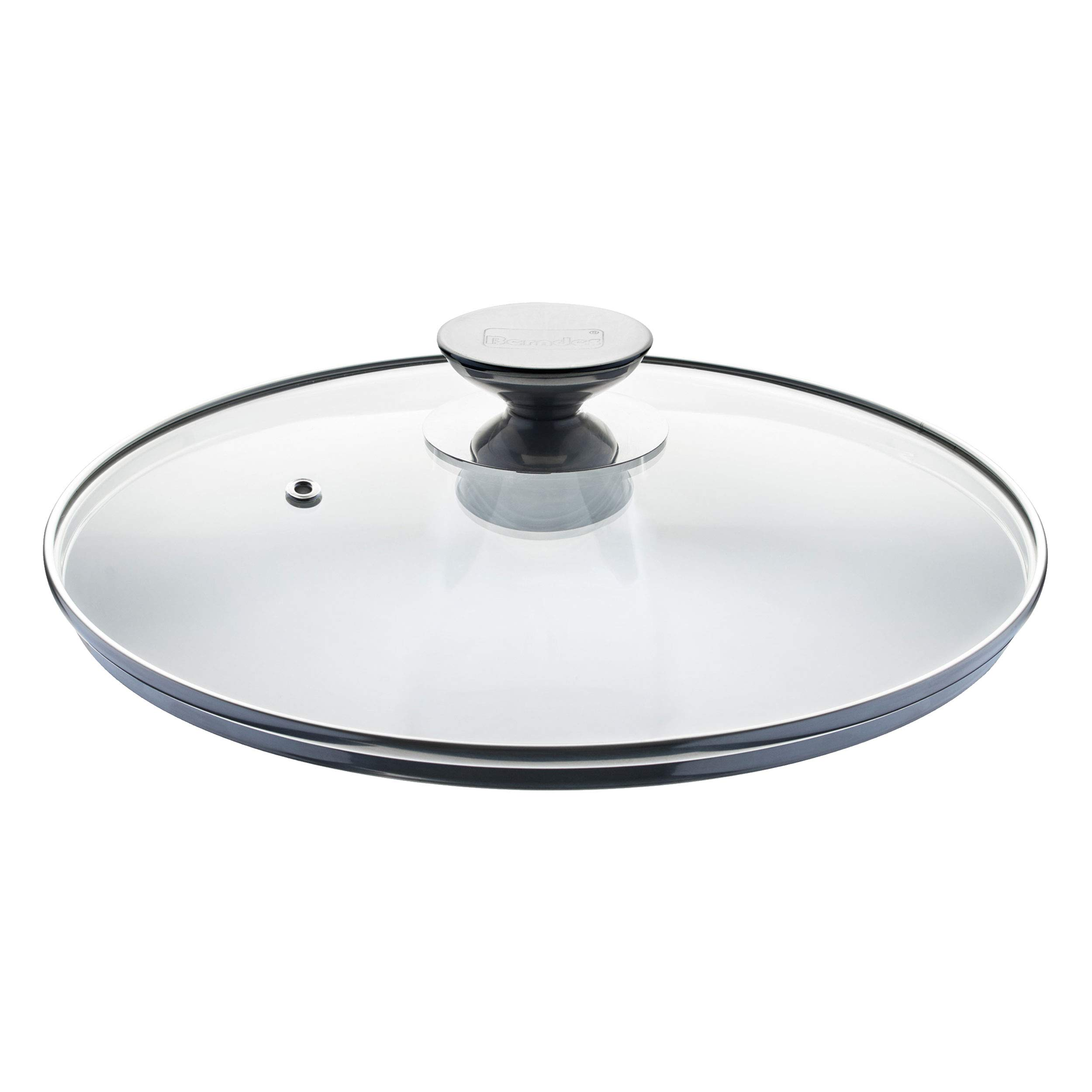Berndes 007028 SignoCast Universal Glass Lid with Stainless Steel Rim and Knob, 11.5 Inches