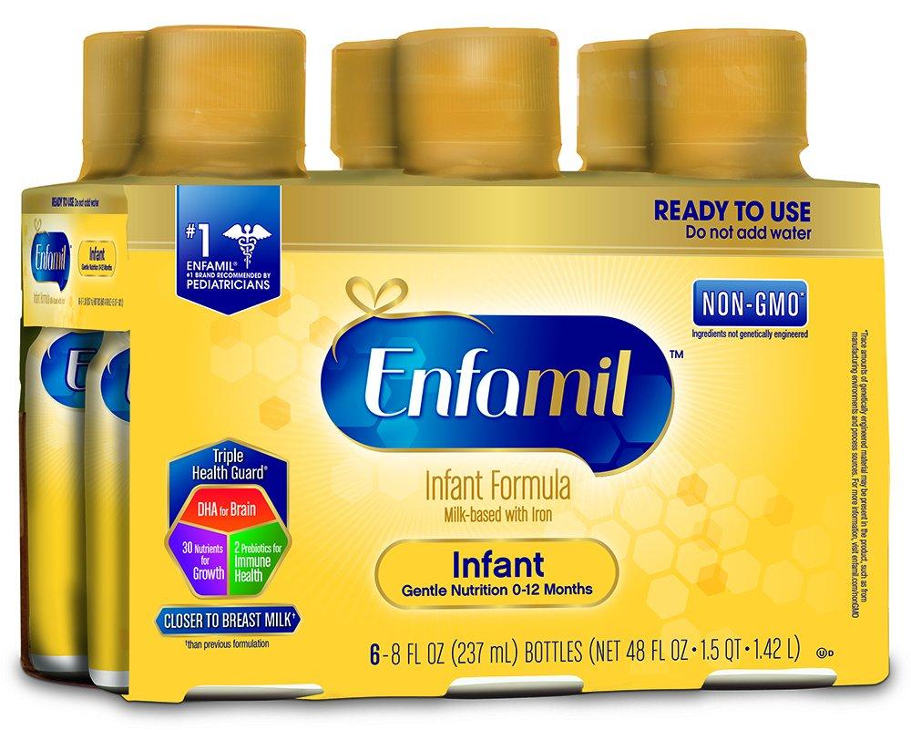 Enfamil PREMIUM Non-GMO Infant Formula - Ready to Use Liquid, 8 fl oz (6 count) Mead Johnson Nutrition