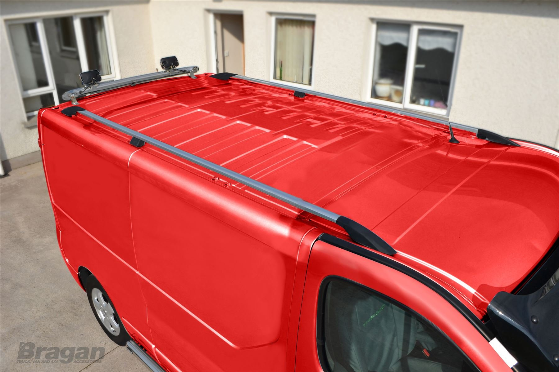 2002-14 ALVM Parts /& Accessories Black Cross Bars To Fit Roof Rack To Fit Vivaro