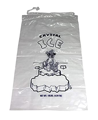 Amazon.com: Bolsas de plástico para hielo, 10 lb con ...