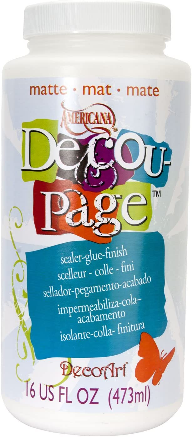 DecoArt 16-Ounce Decoupage Glue, Matte Finish
